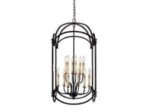 World Imports 61407-42 Hastings 12-Lgt Foyer Lantern, Rust