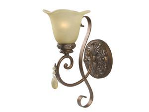 World Imports 4761-60 Catania Clct Single Lgt Wall Sconce, Crackled Bronze/Silver