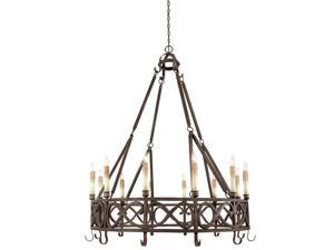 World Imports 80019-85 Chaumont 12-Lgt Chandelier, Textured Rust
