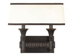 World Imports 2362-47 Manhattan 2-Lgt Wall Sconce, Oiled Bronze