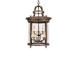 World Imports 1609-63 Chatham 9-Lgt Hanging Lantern, French Bronze