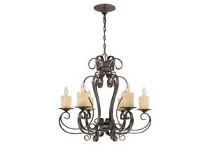 World Imports 5946-97 Stafford Spring Clct 6-Lgt Hanging Chandelier, Antique Bronze