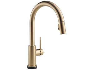 Delta-9159T-CZ-DST Trinsic, Single Handle Pull-Down Kitchen Faucet Featuring Touch2O(R) Technology, Champagne Bronze