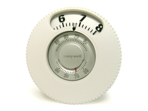 Honeywell Round Easy-To-See Mercury Free 1 Heat/1 Cool Thermostat