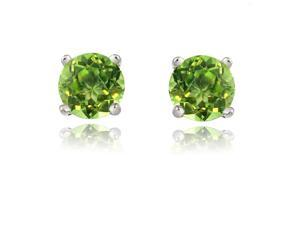2.00ctw Genuine Peridot Earrings Set In Solid Sterling Silver