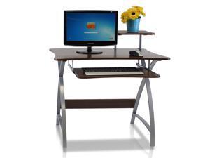 Furinno FNBL-22005 Besi Office Computer Desk, Dark Wood Grain
