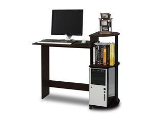 Furinno 11181EX/BK Compact Computer Desk (Espresso/Black)