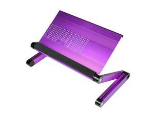 Furinno A6-Purple Ergonomic Aluminum Adjustable Laptop Table