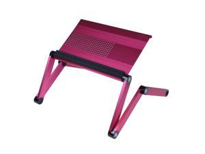 Furinno A6-Pink Ergonomic Aluminum Adjustable Laptop Table