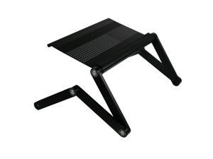 Furinno A6-Black Ergonomic Aluminum Adjustable Laptop Table