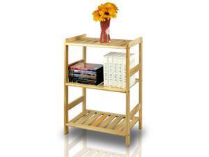 Furinno FNCJ-33011 Solid Pine Wood 3-Tier Shelf (Natural)