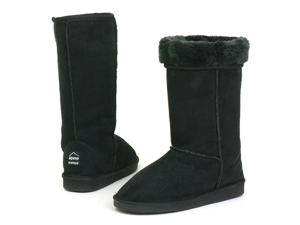 "Womens Boots Mid Calf 12"" Australian Classic Tall Faux Shearling Sheepskin Fur"