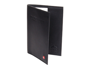 New Passport Cover Travel Case Durable Soft Lambskin Leather By Alpine Swiss BLK