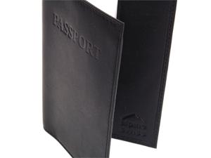 Alpine Swiss SW-147 Passport Cover Travel Case Durable Soft Lambskin Leather - Black
