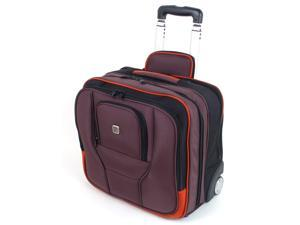 Rolling Briefcase on Wheels Overnight Bag Carry On Laptop Computer Case by Ful