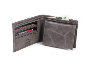 Alpine Swiss CC135-GRY Men's Luxury Pull up Leather Wallet Bifold Removable ID Card Case