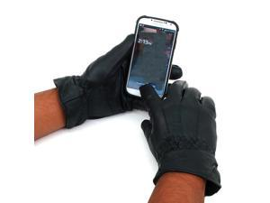 Alpine Swiss GD04-XL Men's Leather Gloves - Smartphone/Tablet Touchscreen Compatible