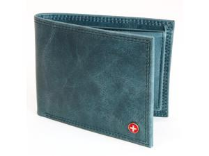 Mens Leather Wallet Bifold Removable ID Card Case By Alpine Swiss Superb Quality
