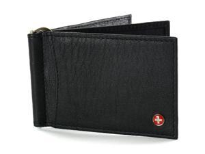 Deluxe Mens Wallet Money Clip Spring Leather Front Pocket Wallet RFID PROTECTED