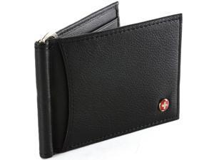 RFID Blocking Mens Wallet Money Clip Front Pocket Wallet Spring Clip AlpineSwiss