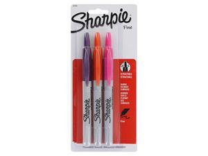 Sharpie RT Retractable Fine Point Permanent Markers, Tropical Colors, 3/Pack