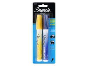 Sharpie Poster-Paint Markers, Water-Based, Fine Point, Blue Ink, Yellow Ink, 2/Pack
