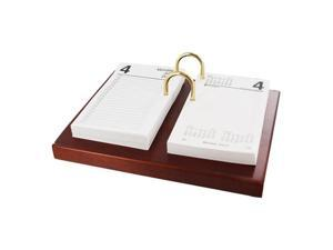 Eldon Workspace Expressions Mahogany Calendar Holder with 2013 Calendar Refill