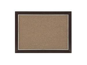 Quartet Two-Tone Home Décor Cork Bulletin Board, 17 x 23 Inches, Espresso Wood Frame (HDB1723BM)