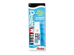 Pentel Permanent Marker, Broad Tip, White, EA - PEN100W