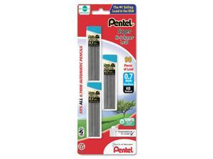 Pentel Super Hi-Polymer Lead Refills, 0.7mm, HB, Black, 90 Leads/Pack, PK - PENC27BPHB3K6