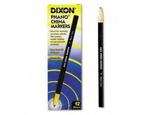 Dixon China Marker, Black, Dozen, DZ - DIX00077