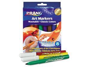 Dixon Washable Markers, Eight Assorted Colors, 8/Set, ST - DIX80680