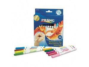 Dixon Prang Washable Markers, Fine Point, 24 Assorted Colors, 24/Set, ST - DIX80715