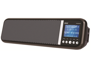 Pyle Home PKRSP5B Portable and Desktop MP3 Speaker with USB/SD, FM, Aux In for iPod, Android, iPad, Alarm Clock, Rechargeable