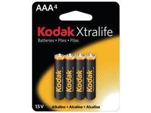 KODAK XL3A4 Xtralife(TM) Alkaline Batteries (AAA&#59; 4 pk)