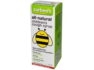 Zarbee's All-Natural Children's Cough Syrup 12 Months+ - Natural Cherry Flavor - 4 oz - HSG-574335
