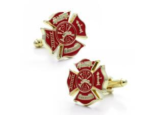 Red Gold tone Firecufflinks
