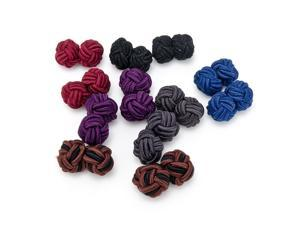Bold Statement Silk Knot Cuflinks