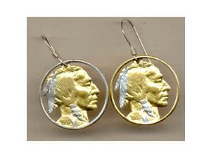U.S. Indian Copper Nickel Cut Out Earrings