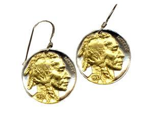 Indian head nickel Earrings-6ERSS