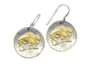 New Jefferson nickel Bison Earrings-92ERSS