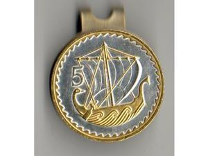 Gorgeous  2-Toned Gold & Silver Viking ship-coin-Golf Ball Marker-147W-HC