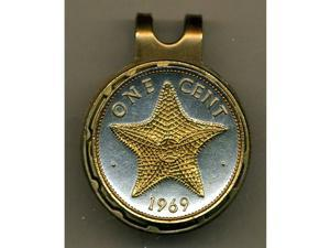 Gorgeous 2-tone Gold on Silver Starfish-Coin-Ball Marker-HC-153