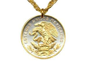 Gorgeous 2-tone Gold on Silver World Coin Jewelry Necklaces-N-108A
