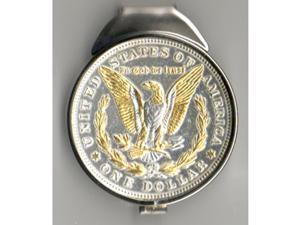 Two tone Gold & Silver U.S. Morgan silver Money clips-M65W