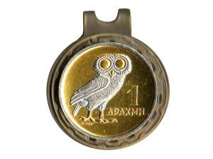Greek 1 Drachma White snow Owl Coin-Ball Marker-HC-195