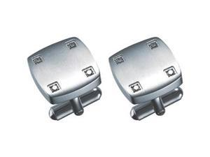 Angelo Crystal Embedded Stainless Steel Cuff Links