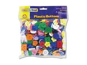 Plastic Button Assortment, 1 Lbs., Assorted Colors/Sizes
