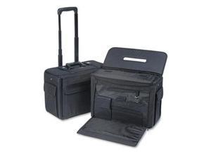 Rolling Catalog/Computer Case, Nylon, 18 X 8 X 13, Black