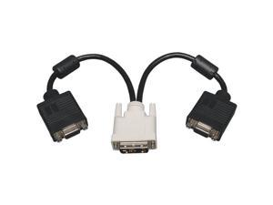 TRIPP LITE P120-001-2 DVI TO VGA SPLITTER ADAPTER, 1 FT